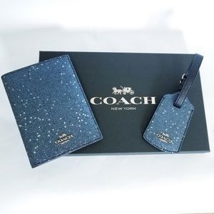 ‼️Coach ‼️Boxed Travel Set Passport Luggage Tag